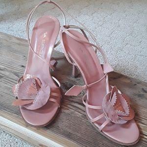 Via Spiga Pink Strappy Heels